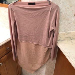 Zara Angled Tan Shirt